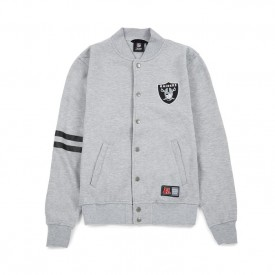 MAJESTIC EMODIN FLEECE LETTERMAN RAIDERS JACKET