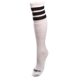 COOLSOCKS PODKOLENKY SIMPLE 1 WHITE/BLACK